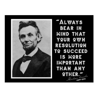 RESOLUTION TO SUCCEED - Lincoln Quote Postcard