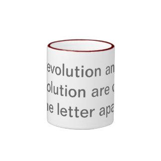 Resolution vs. Revolution Ringer Coffee Mug