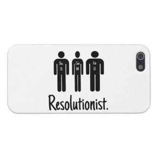 Resolutionist divertido iPhone 5 fundas