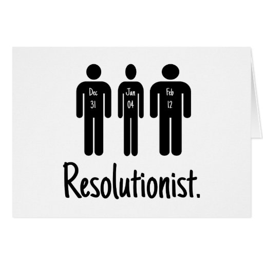 Resolutionist Funny Cards