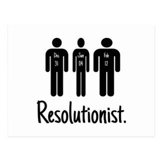 Resolutionist Funny Post Cards