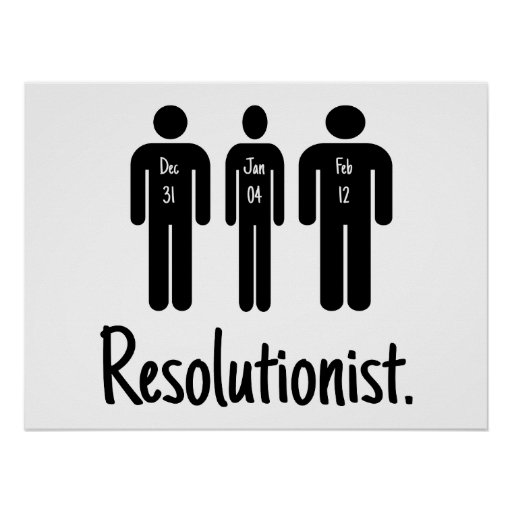 Resolutionist Funny Poster