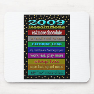 resolutions 2009 mouse pad