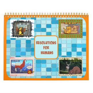 Resolutions for Humans Calendar (Medium size)