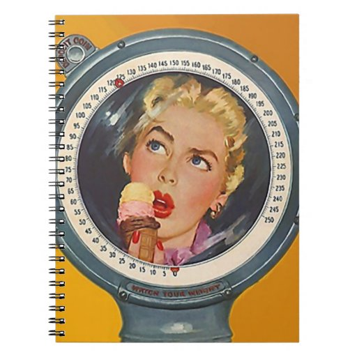 Resolutions Notebook Vintage Retro Lady Weigh-In
