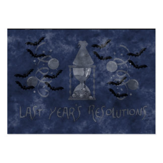 Resolutions Past Large Business Card
