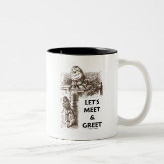 Resolvamos y saludemos el país de las maravillas d taza de café