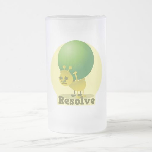 Resolve determind ant motivated with pea 16 oz frosted glass beer mug