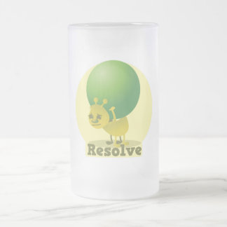 Resolve determind ant motivated with pea frosted glass beer mug