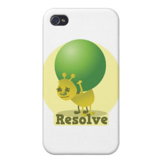 Resolve determind ant motivated with pea iPhone 4/4S cover