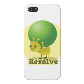 Resolve determind ant motivated with pea iPhone SE/5/5s cover