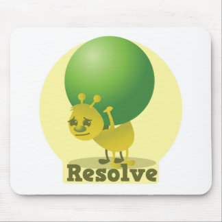 Resolve determind ant motivated with pea mouse pad