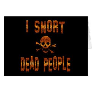 Resoplo gente muerta tarjeta de felicitación