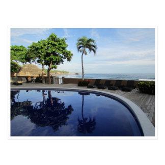 resort pool postcard