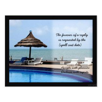resort rsvp card