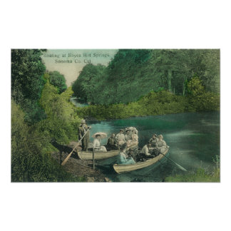 Resorters Boating at the Springs Posters