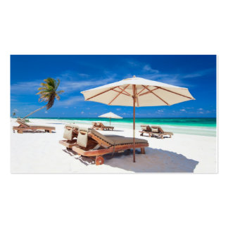 Resort's beach Double-Sided standard business cards (Pack of 100)
