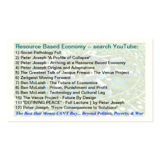 Resource Based Economy & Permaculture links Double-Sided Standard Business Cards (Pack Of 100)