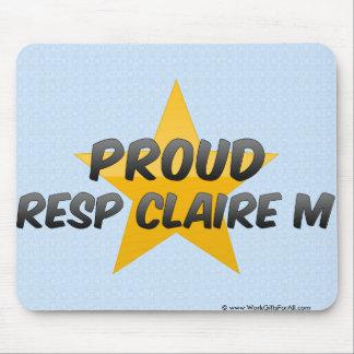 Resp orgulloso Claire M Alfombrilla De Ratones