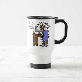 Respaldo de la impulsión dura chistoso tazas de café