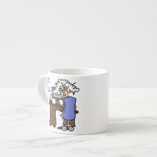 Respaldo de la impulsión dura chistoso tazita espresso