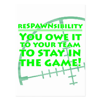 Respawnsibility - FPS Postcard