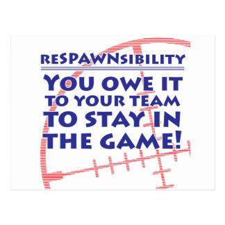 Respawnsibility - FPS Tarjetas Postales