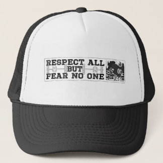 Respect All Fear No One Black Trucker Hat