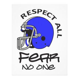 RESPECT ALL FEAR NO ONE LETTERHEAD DESIGN