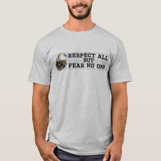 Respect All Fear No One Orange T-Shirt