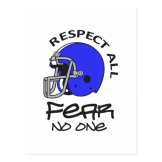 RESPECT ALL FEAR NO ONE POSTCARD