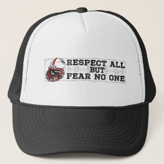 Respect All Fear No One Red Trucker Hat