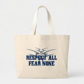 Respect All Fear None Canvas Bag
