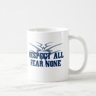Respect All Fear None Classic White Coffee Mug
