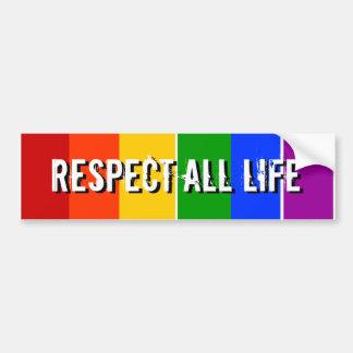 RESPECT ALL LIFE CAR BUMPER STICKER
