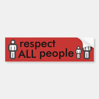 respect all people bumper sticker