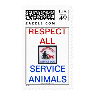 RESPECT ALL SERVICE ANIMALS POSTAGE