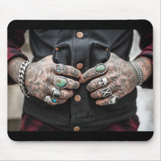 """Respect America"" Tattooed Hands Mouse Pad"