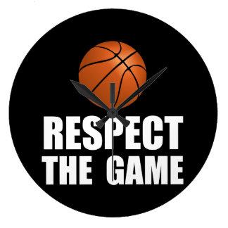 Respect Basketball Large Clock