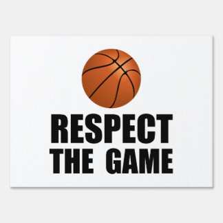 Respect Basketball Yard Sign