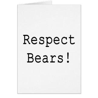 Respect Bears Card