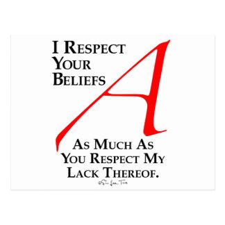 Respect Beliefs Postcard