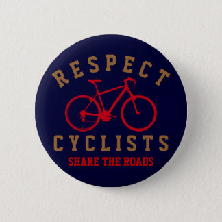 respect bicyclists sport-themed button