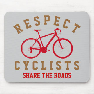 respect bicyclists sport-themed mouse pad