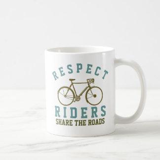 respect bike riders coffee mug