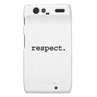 respect. motorola droid RAZR case