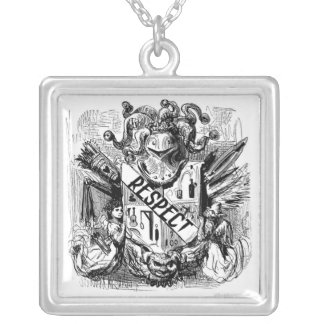 Respect Coat of Arms Regard and Honor Silver Plated Necklace