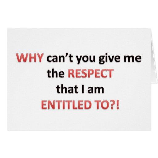 Respect Entitlement Cards