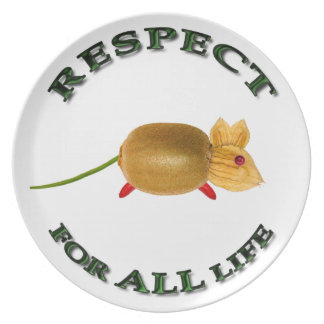 Respect for ALL life mouse - vegetarian Platos