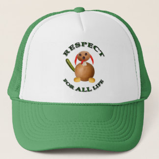 Respect for ALL life - vegetarian dog Trucker Hat